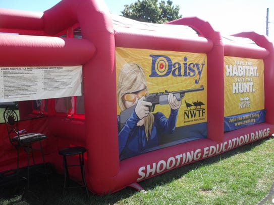The mobile Shooting Education Range was offered at