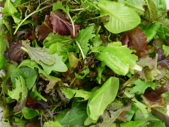 Spring mix from Jake's Farm.