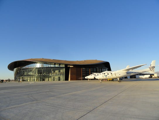 The Spaceport America Gateway to Space Terminal Hangar Facility in Truth or Consequences, N.M.
