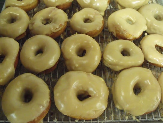 Homemade donuts are always a popular item at the Haiti