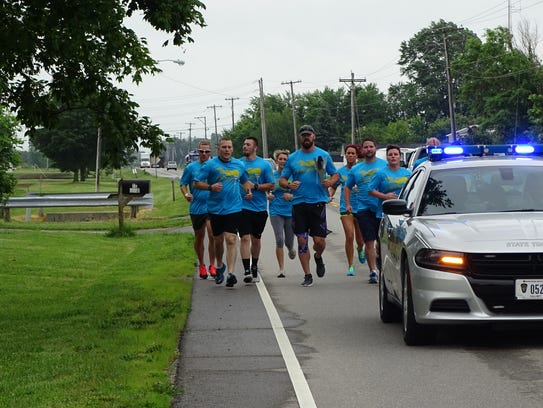Correctional staff run in support of Ohio Special Olympics.