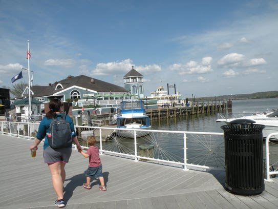 Marinas, restaurants and parks attract people to the