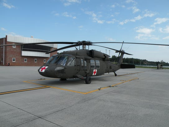 A Black Hawk helicopter is one of 12 stationed at the
