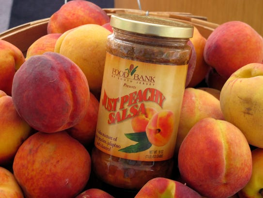 Just Peachy Salsa, produced for sale by the Food Bank