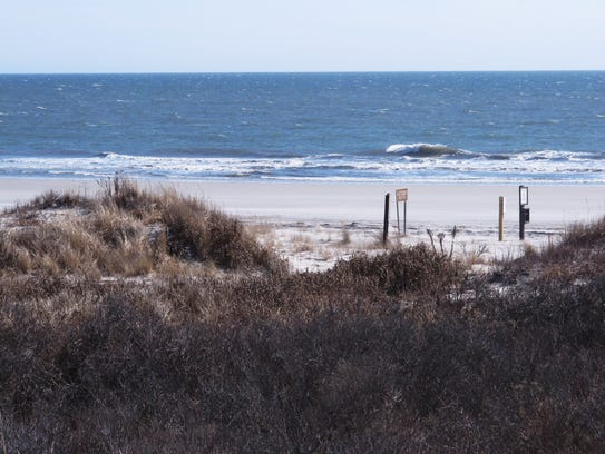 A section of beach in Brigantine, N.J., that is popular