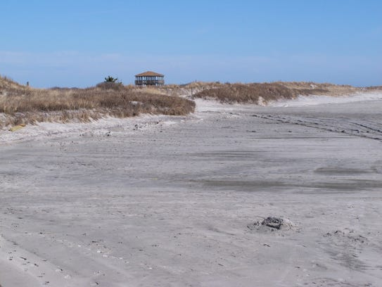 A section of beach in Brigantine N.J. that is popular