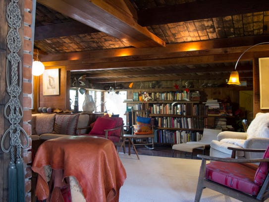 The original one-room dwelling is now the main living