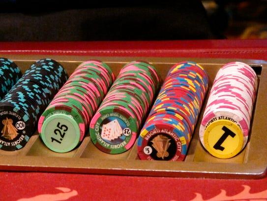 Gambling chips at Resorts Casino Hotel in Atlantic