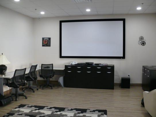 The media room at Promise in Brevard.