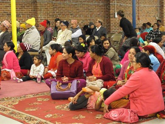 Nepali Hindus gather Saturday to celebrate the Dashain