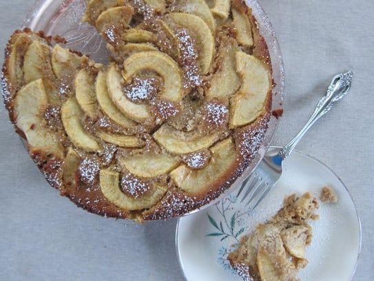 Apple Cake with Coriander and Cardamom uses almond flour. (Photo ...