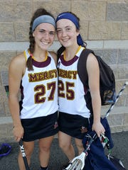 Libby (left) and Amelia Bartels experienced two straight trips together to the state semifinals as members of the Mercy lacrosse squad.