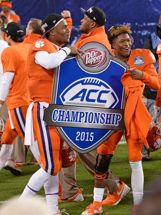 football, 2015, clemson, north carolina, acc championship