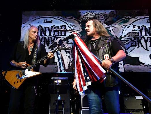 Rickey Medlocke and Johnny Van Zant of Lynyrd Skynyrd