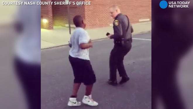 Deputy C. Williams in a dance-off