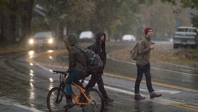 Forecasters are predicting a dramatic temperature drop on Thursday, with a 40 percent chance of precipitation that could include both rain and snow.