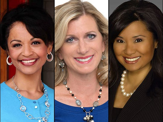 """Grace Trahan (from left), Julie Patterson and Joy Dumandan are among the contributors to """"Boomer TV"""" on WISH-TV."""