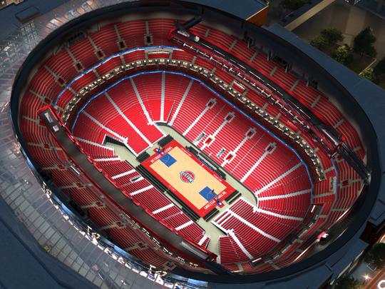 """A """"virtual venue"""" look at Little Caesars Arena during"""