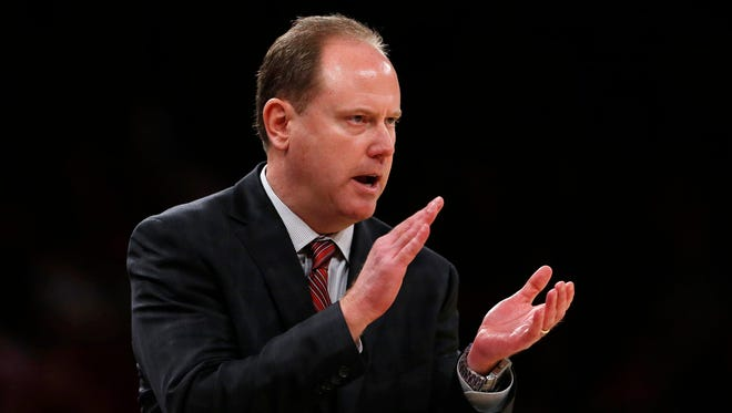 UW basketball coach Greg Gard.