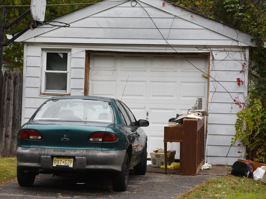 Photo of the garage where the body of Susana Lopez, 56, was kept for days before being found at the Spring Valley Road home, according to the prosecutor's office.  Photographed in Paramus on 10/25/17.