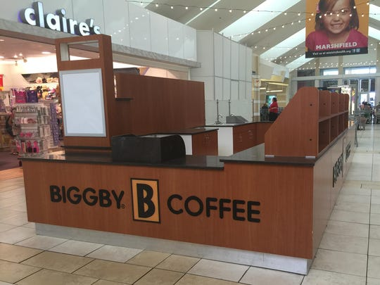 The Biggby Coffee stand in the Wausau Center has closed.