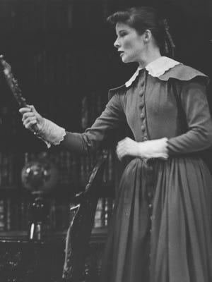 """Katharine Hepburn plays the title character in """"Jane Eyre"""" at the Pabst Theater Feb. 24-27, 1937. This photo was published in The Milwaukee Journal on March 7, 1937."""