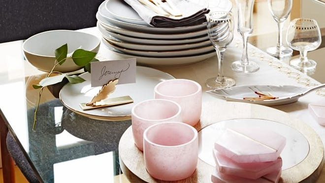 Deck Out Pink Coasters from West Elm