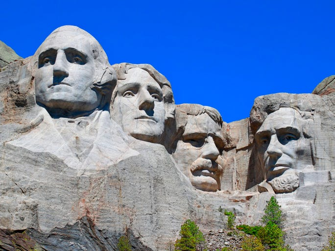 We asked 10Best and USA TODAY readers to vote for the Best Presidential Attraction in the 10Best Readers' Choice awards, and one of the largest nominees took home top honors. At winning Mount Rushmore, the country's early presidents appear larger than life, and in nearby Rapid City, S.D., the City of Presidents attraction commemorates past and present Commanders in Chief with life-size bronze statues.