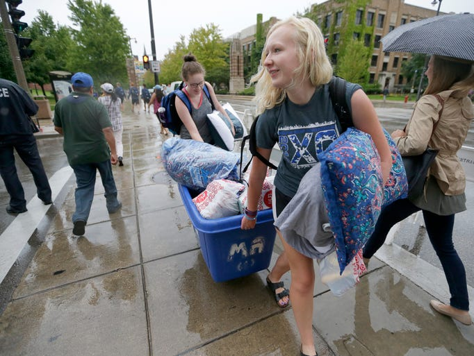 Sydney Wagner (right), a sophomore from Downers Grove,