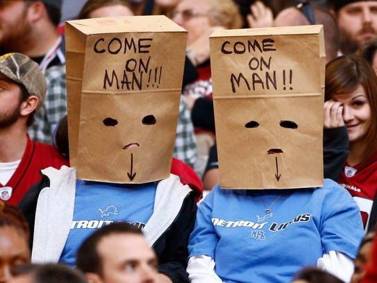 Detroit Lions fans went to the bags in the fourth quarter