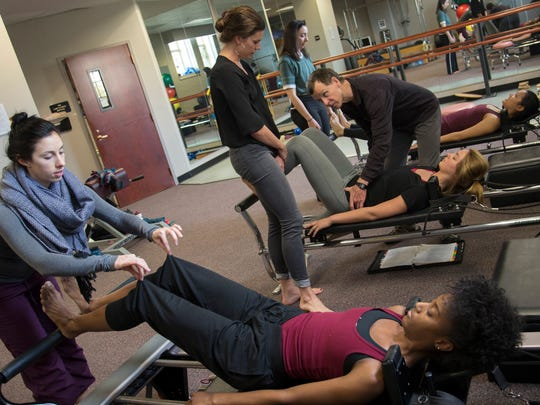 Dance students work out with Tom Welsch at Florida State University.