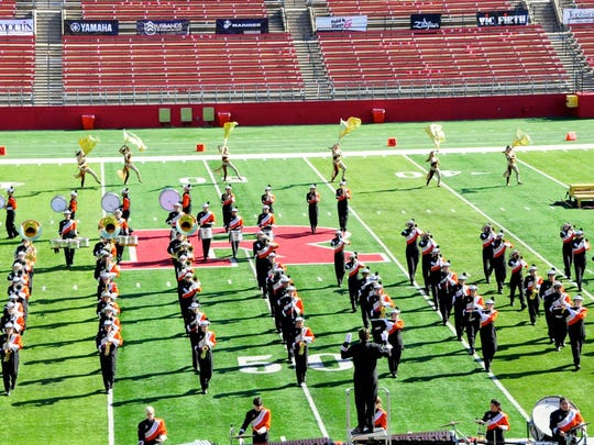 The Somerville High School Marching Band and Color Guard took second place in the U.S. Bands NJ State Championship conducted on Oct. 31 at High Point Solutions Stadium at Rutgers University in Piscataway.