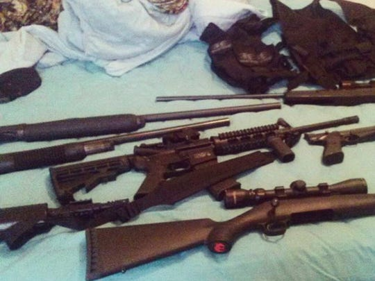 Instagram account of Nikolas Cruz shows weapons lying on a bed.