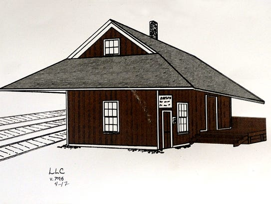 A rendering of what the restored depot will look like.