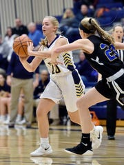 Eastern York's Addy Malone looks for an open teammate