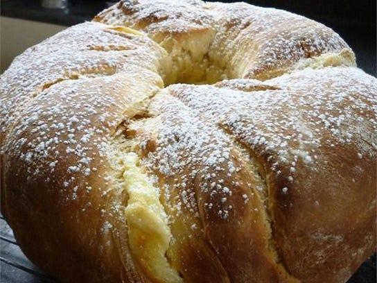 Polish Cheese Babka's filling has farmers cheese and