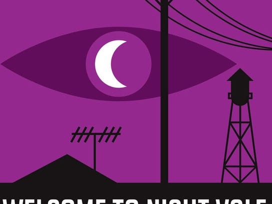 "Logo artwork for the popular fictional podcast ""Welcome to Night Vale."""