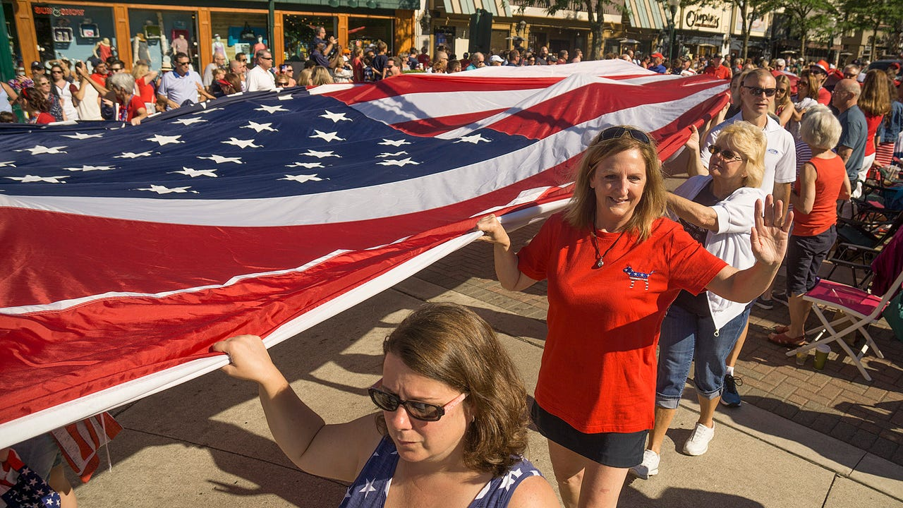 A huge crowd turned out to enjoy the annual Good Morning USA parade in downtown Plymouth Tuesday.