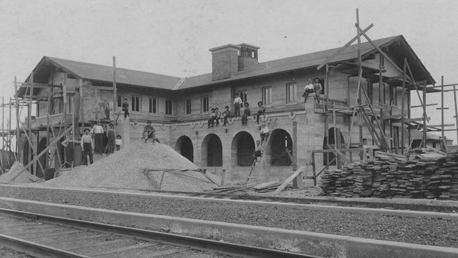 The Harvey House at Vaughn, New Mexico was under construction when Fannie Teague moved to nearby Encino and became one of the first Harvey Girls to work there before transferring to Slaton in 1912.