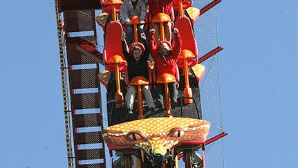 Diamondback roller coaster at Mason's King's Island amusement park.