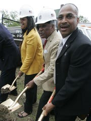 Terrence Horton, at right, at the 2007 groundbreaking
