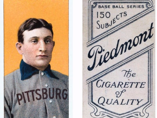 The early 1900s Honus Wagner card, the Holy Grail of baseball cards and worth about $3 million.