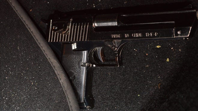 Abraham Maurice Miller reportedly pulled out this metal replica of a gun, which is actually a lighter, when stealing a car early Wednesday, Jan. 22, 2020, outside Trump Plaza in downtown West Palm Beach. He was arrested on charges of armed carjacking, fleeing from police and driving with a suspended license.