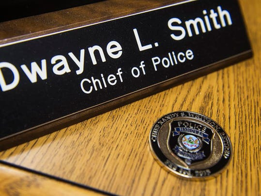 A challenge coin issued during the retirement of former Chief Randy Whitson in February 2013 was a piece of memorabilia that Chief Dwayne Smith kept in memory of the former borough police chief. Whitson, who passed away yesterday evening April 16 at Hanover Hospital, served 37 years on the force.
