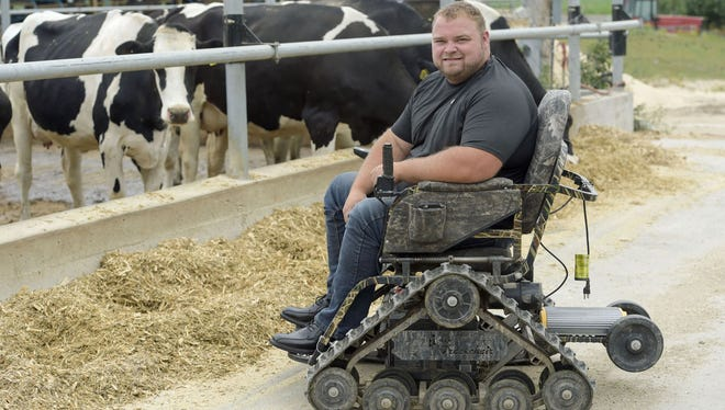 Regaining that sense of independence and feeling like I am useful is so important to me, said Jim Waldron, who was paralyzed from the waist down in a farming accident. I don't want to weigh down the farm. I want to help raise the value.