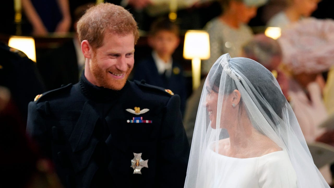 Harry and Meghan have been pronounced husband and wife after marrying in a fairytale ceremony in St George's Chapel. (May 19)