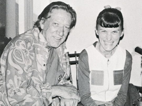 Richard Boone and a student in 1973