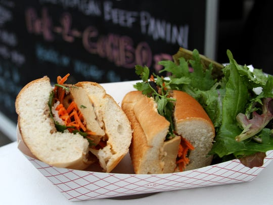 A Vietnamese sandwich from The Purple Carrot food truck