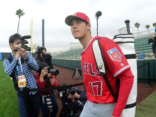 USP MLB: LOS ANGELES ANGELS-WORKOUT S BBA USA AZ