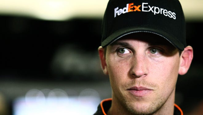 Denny Hamlin says his mom collects everything with his name on it.